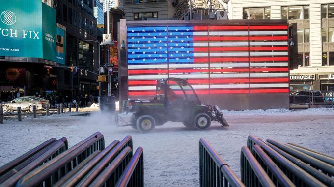 Dans les rues de New York.