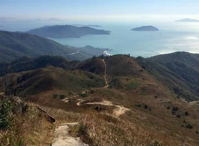 Sur le Lantau Trail.