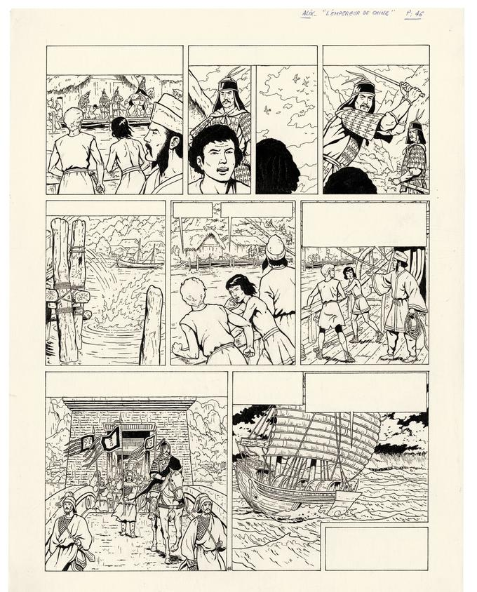 L'Empereur de Chine, tome 17, planche 46.