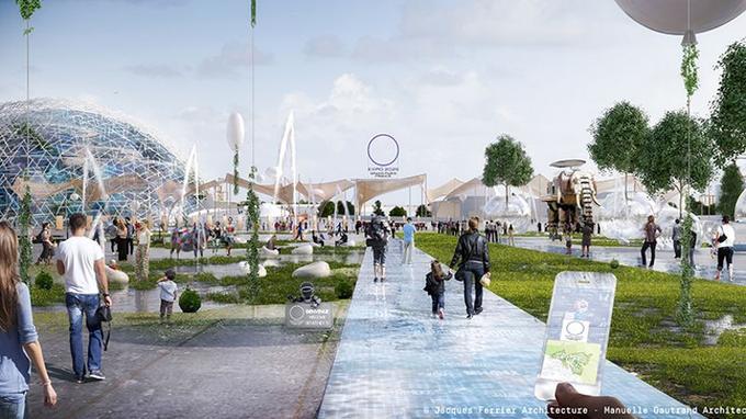 Le parc des expositions tel que ses concepteurs l'avaient imaginé.