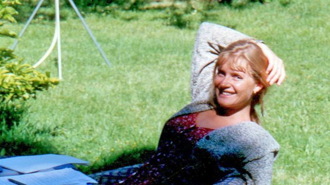 Sophie Toscan du Plantier, photographiée à Combret en 1996.