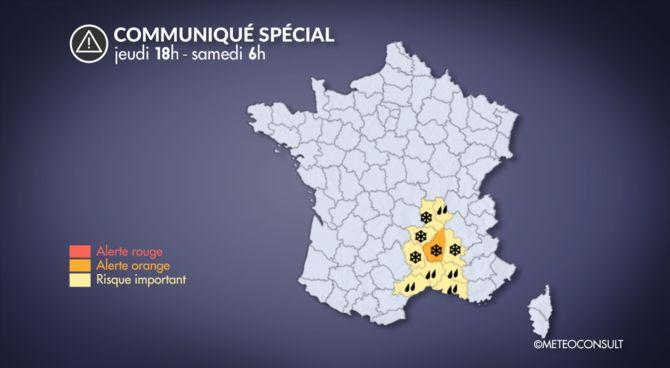 La Chaîne météo a placé l'Ardèche en alerte orange.