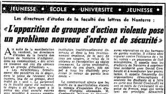Le Figaro du 28-29 janvier 1968.