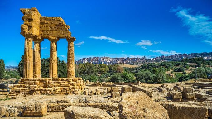 Les ruines d'Agrigente.