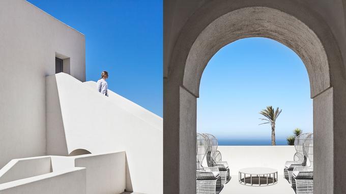 Architecture graphique et épurée inspirée des traditionnels «damusi», à l'hôtel Sikelia Luxury Retreat