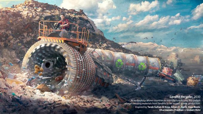En matière d'écologie, le futur devrait également voir arriver des technologies qui pourront améliorer notre façon de recycler.