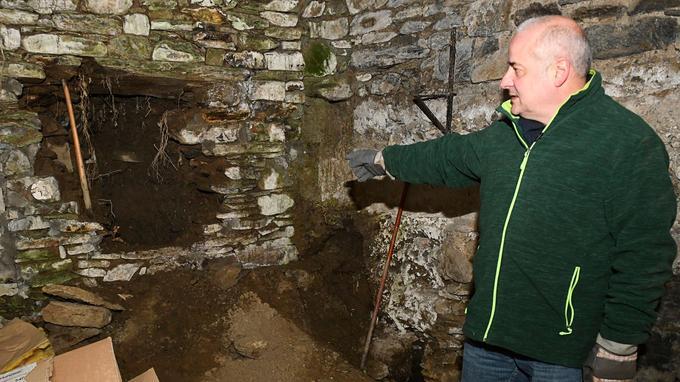 Bernard Vilain, auteur d'un livre sur l'affaire et coordinateur des fouilles.