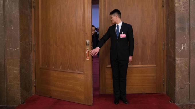 Au Parlement à Pékin ce dimanche.