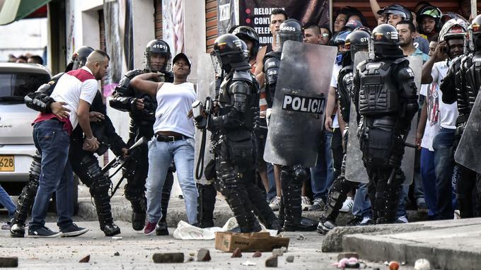 Des manifestations contre Rodrigo Londoño à Yumbo le 7 février dernier.
