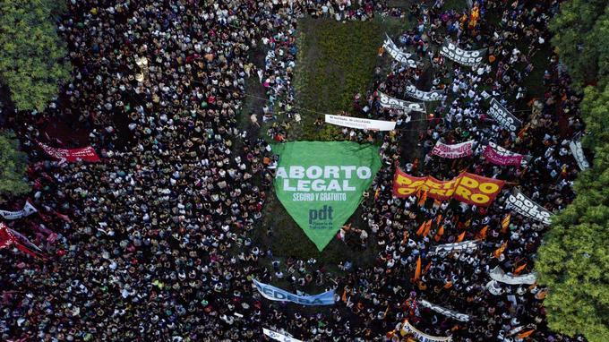 Les Argentines se sont rassemblées en nombre le 8 mars pour la journée internationale des femmes.