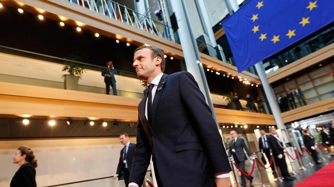 Emmanuel Macron, le 1er juillet 2017 à Strasbourg.