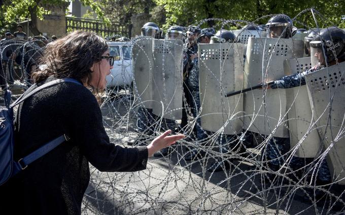 La police face aux manifestants