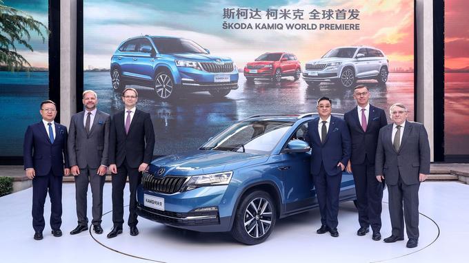 Skoda, marque du groupe Volkswagen, a présenté à Pékin le Kamiq, un SUV réservé au marché chinois.