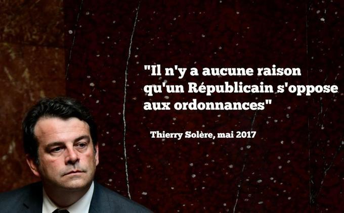 L'ex-Républicain Thierry Solère a adhéré à La République en marche (LREM) en novembre 2017.