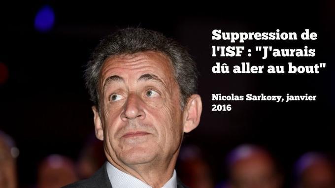 Dans son livre «La France pour la vie», Nicolas Sarkozy regrettait de ne pas avoir supprimé l'ISF.