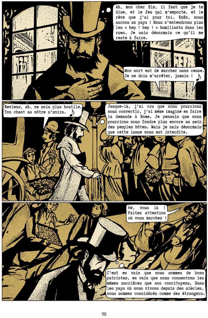 Planche tirée du roman graphique «Herzl une histoire européenne».