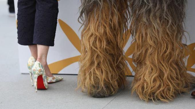Le photographe Tristan Fewings a capturé le choix de souliers fort différent des vedettes de «Solo: A Star Wars Story», Emilia Clarke et Chewbacca