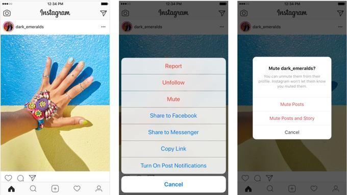 Mettre en sourdine un compte Instagram