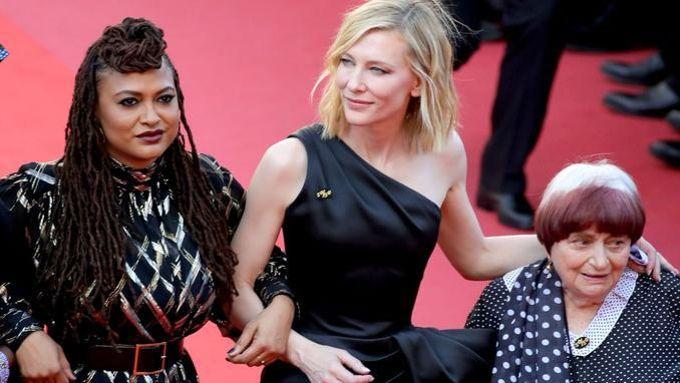 Ava DuVernay, Cate Blanchett et Agnès Varda à Cannes en mai 2018.