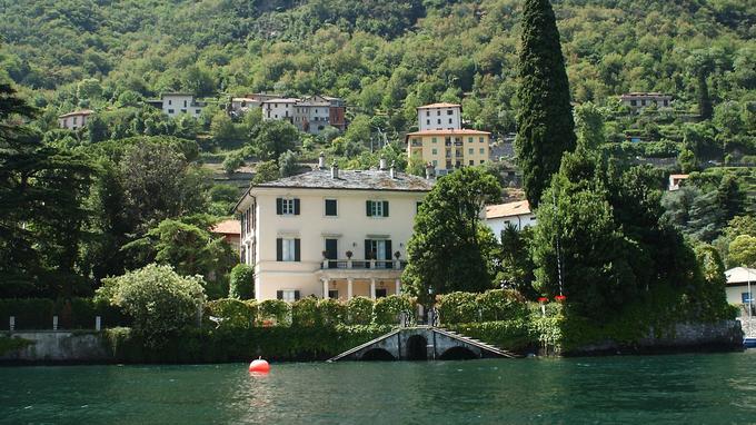 La villa de George Clooney sur les rives du lac de Côme.