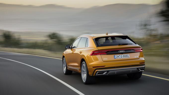 Le Q8 sera d'abord lancé cet été avec un V6 3 litres turbodiesel doté d'un système d'hybridation légère.