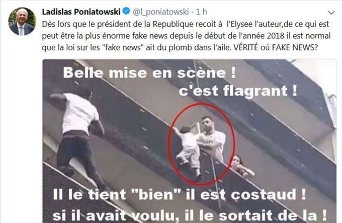 Le tweet de Ladislas Poniatowski