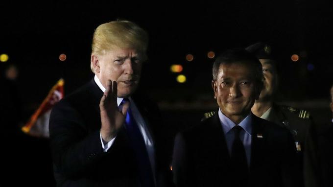 Donald Trump est arrivé à Singapour un peu avant 20h30 (heure locale).