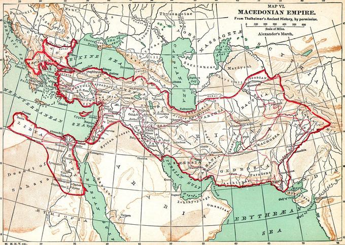 Carte de l'empire macédonien.
