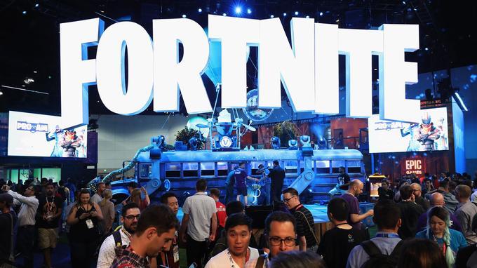Le stand Fortnite à l'E3
