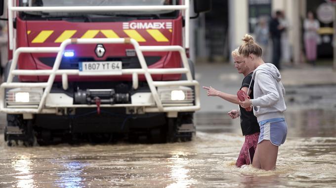 Inondation à Salies-de-Béarn (Pyrénées-Atlantiques)