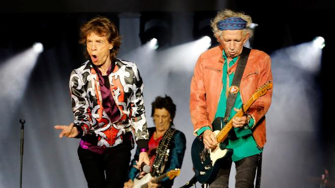 Mick Jagger, Keith Richards et Ron Wood.