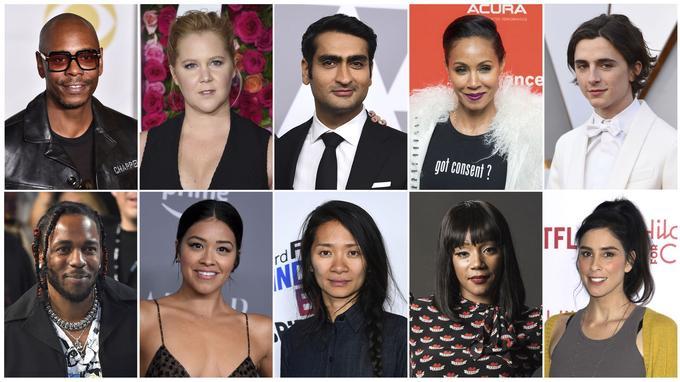 Dave Chappelle, Amy Schumer, Kumail Nanjiani, Jada Pinkett Smith, Timothee Chalamet, Kendrick Lamar, Gina Rodriguez, Chloe Zhao, Tiffany Haddish et Sarah Silverman font partie des artistes invités à rejoindre l'Académie des Oscars.