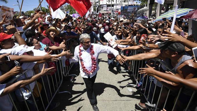 Andres Manuel Lopez Obrador, favori des sondages, s'est engagé à faire voter une loi d'amnistie pour les petites mains des cartels.