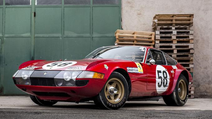 La Ferrari Daytona qui a terminé 5e au Mans en 1971 est la star de la vente.