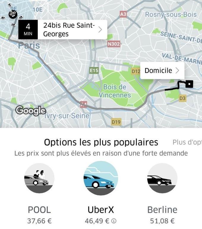 En région parisienne, les prix sont actuellement plus élevés «en raison d'une forte demande».