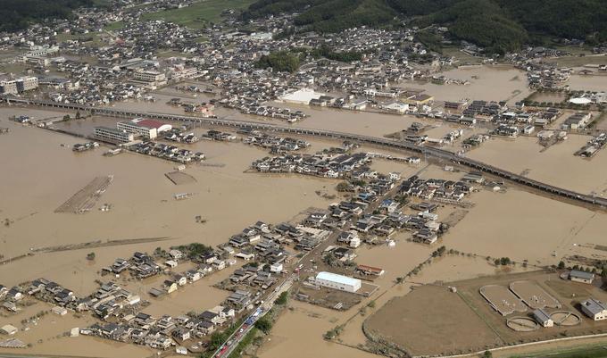 Kurashiki, commune de la préfecture d'Okayama qui compte un peu moins de 500.000 habitants, a été une des villes les plus touchées par les fortes pluies.
