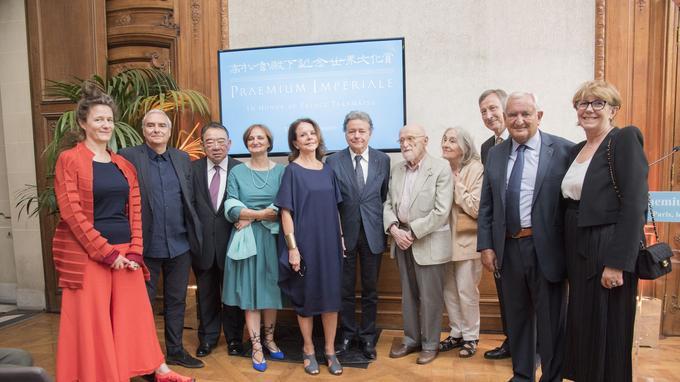 Le palmarès 2018 lors de la cérémonie de remise de prix Praemium Imperiale au musée Guimet de Paris le 11 juillet.