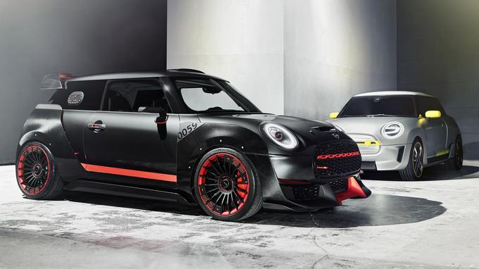 Mini associe le moteur thermique à la conduite sportive avec la John Cooper Works GP Concept, qui semble évadée de la course automobile.