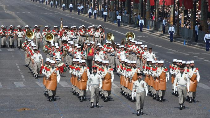 Comme chaque année, des Pionniers de la Légion étrangère ont participé à l'événement.