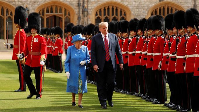 Donald Trump et la reine Elizabeth II au château de Windsor, le 13 juillet.
