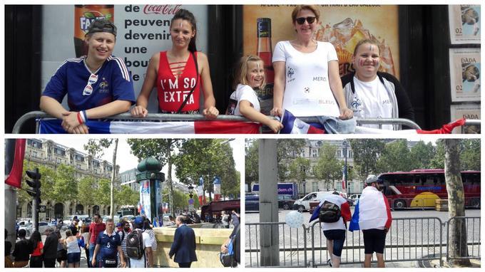 Les fans commençaient à s'installer vers midi, bien avant le passage des Bleus qui doivent descendre l'avenue aux alentours des 17 heures.