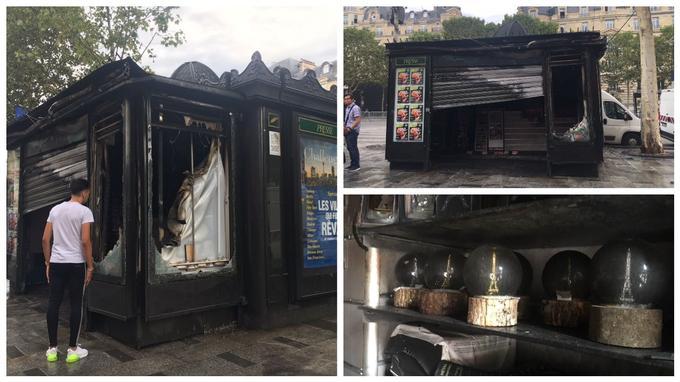 Le kiosquier évalue à plusieurs milliers d'euros l'ampleur des dégâts.