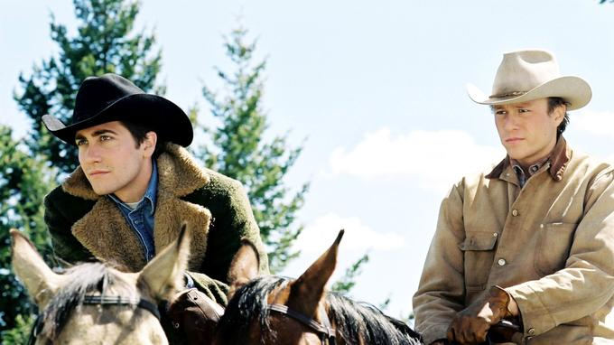Jake Gyllenhaal (gauche) et Heath Ledger dans «Le Secret de Brokeback Mountain».