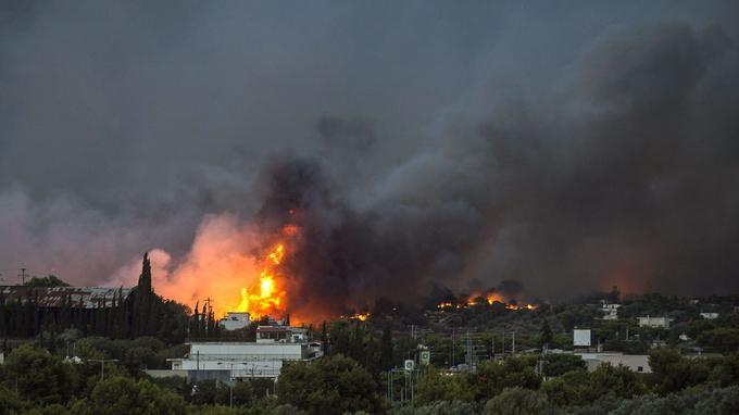Lundi, le feu a ravagé des zones habitées.
