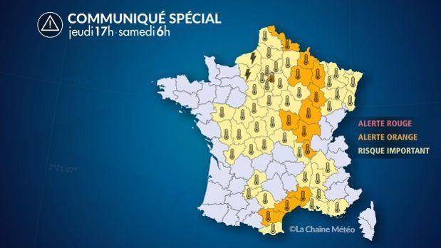 Dix-huit départements placés en vigilance orange — Canicule