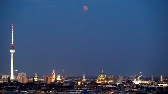 L'éclipse de Lune visible à Berlin.