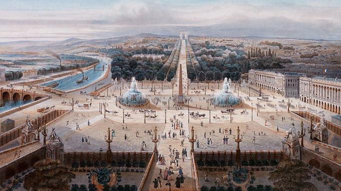 Paris et sa place de la Concorde idéalisés en 1836.
