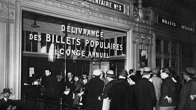 600.000 billets à prix réduit sont distribués en 1936.