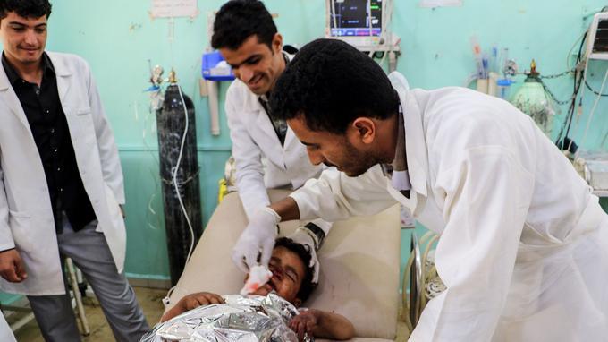 48 blessés dont 30 enfants ont également été admis à l'hôpital du CICR.