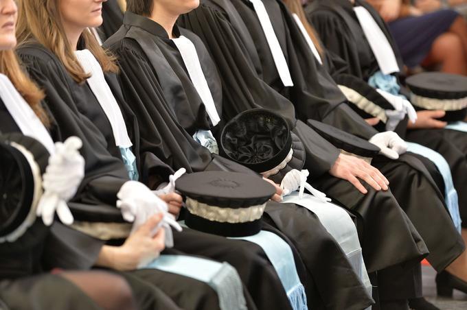 Cérémonie à l'École nationale de la magistrature (ENM).